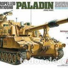 Macchiette: TAMIYA - U.S.SELF-PROPELLED HOWITZER M109A6 PALADIN 1/35 37026 FOTOGRABADO INCLUIDO . Lote 192097127