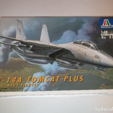 Maquetas: ITALERI F-14 A TOMCAT PLUS U.S. NAVY FIGHTER AVIÓN PLÁSTICO ESCALA 1:48. Lote 192574737