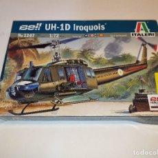 Maquettes: ITALERI BELL UH-1D IROQUOIS HELICÓPTERO PLÁSTICO ESCALA 1:72. Lote 192578160