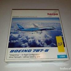Maquetas: HERPA BOEING 787-8 AVIÓN METAL ESCALA 1:500. Lote 192744925