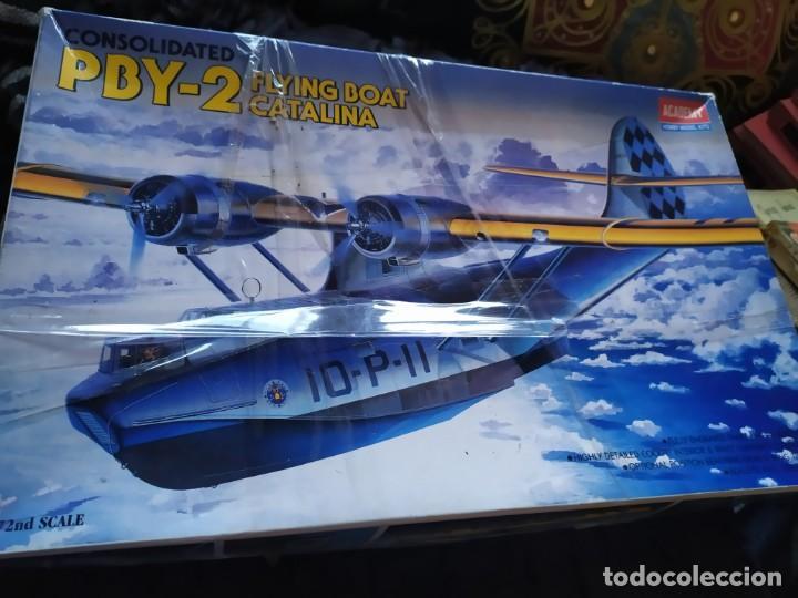 AVIONETA CONSOLIDATED 1/72 ESCALE 1993 ACADEMY HOBBY MODEL KITS PBY 2 CATALINA (Juguetes - Modelismo y Radio Control - Maquetas - Aviones y Helicópteros)