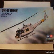 Maquetas: MAQUETA HOBBY BOSS HELICOPTERO 1/72 UH-1F HUEY. Lote 193164555