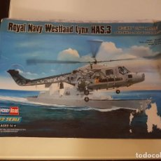 Maquetas: MAQUETA HOBBY BOSS HELICOPTERO 1/72 ROYAL NAVY WESTLAND LYNX HAS.3. Lote 193165780