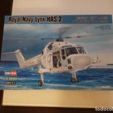 Maquetas: MAQUETA HOBBY BOSS HELICOPTERO 1/72 ROYAL NAVY WESTLAND LYNX HAS.2. Lote 193166063