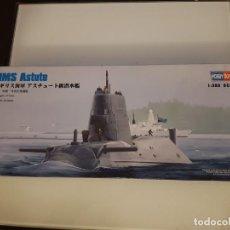 Maquetas: MAQUETA HOBBY BOSS SUBMARINO 1/350 HMS ASTUTE. Lote 193168320
