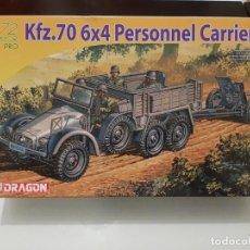 Maquetas: MAQUETA DRAGON COCHE 1/72 KFZ.70 6X4 PERSONNEL CARRIER. Lote 193175335