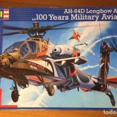 Maquetas: AH-64D LONGBOW APACHE 100 YEARS MILITARY AVIATION 1:48 REVELL 04896 MAQUETA AVIÓN HELICÓPTERO. Lote 193376553