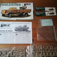 Maquetas: MAQUETA GERMAN 3T AA VEHICLE WITH ARMOURED CAB AND FLAK 38. Lote 193782626