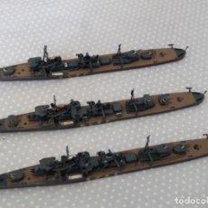 Maquetas: 1/700 HASEGAWA O TAMIYA 3 DESTRUCTORES JAPONESES II GUERRA MUNDIAL PINTADOS EN ALTA CALIDAD. Lote 194027253