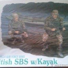Maquetas: BRITISH SBS W/ KAYAK ESCALA 1/35WORLD'S ELITE FORCE SERIES- MARCA DRAGON. Lote 194064636