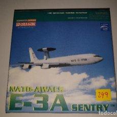 Maquetas: DRAGON NATO AWACS E-3A SENTRY AVIÓN METAL ESCALA 1:400. Lote 194102157