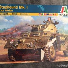 Maquetas: STAGHOUND MK.I LATE VERSIÓN 1:35 ITALERI 6459 MAQUETA CARRO VEHÍCULO TANQUE. Lote 194198437