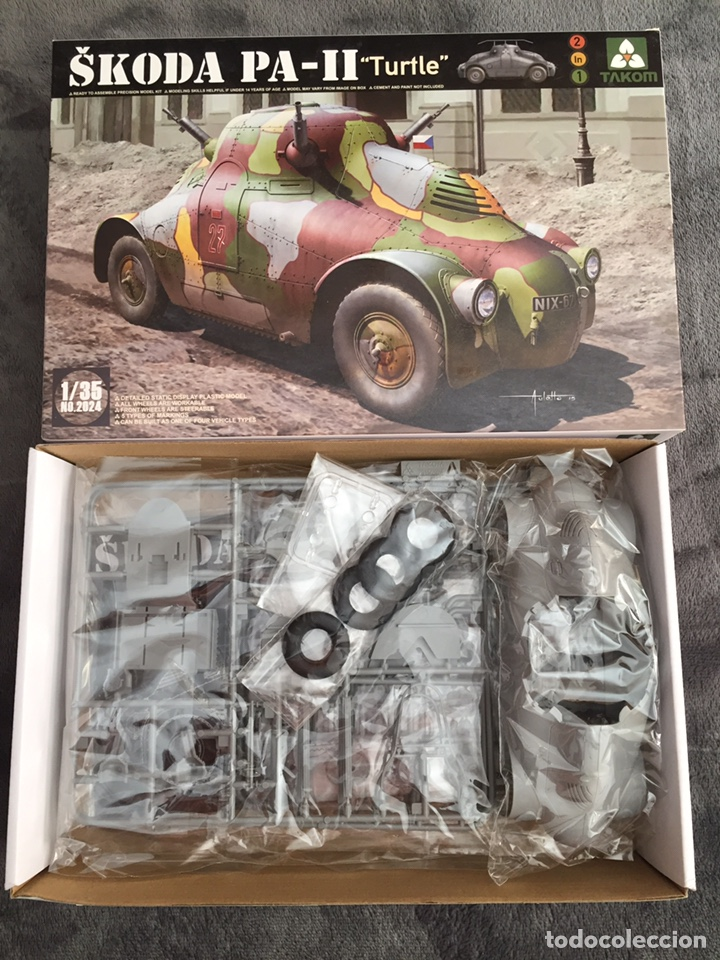 """Maquetas: SKODA PA-II """"Turtle"""" 1:35 TAKOM 2024 maqueta carro vehículo tanque - Foto 6 - 194201023"""