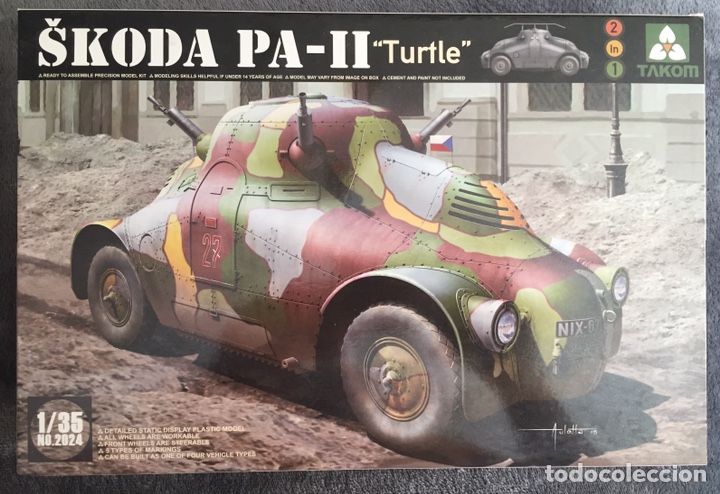 """SKODA PA-II """"TURTLE"""" 1:35 TAKOM 2024 MAQUETA CARRO VEHÍCULO TANQUE (Juguetes - Modelismo y Radiocontrol - Maquetas - Militar)"""