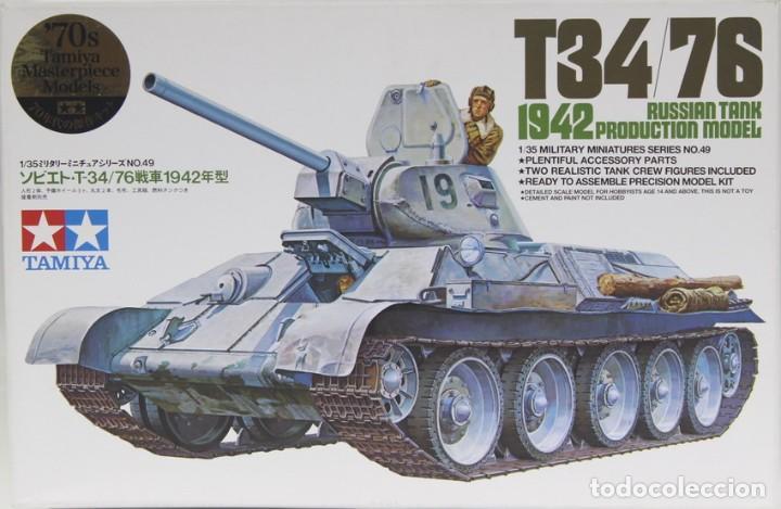 MAQUETA CARRO T-34/76, 1942 PRODUCTION, REF. 35049, 1/35, TAMIYA (Juguetes - Modelismo y Radiocontrol - Maquetas - Militar)