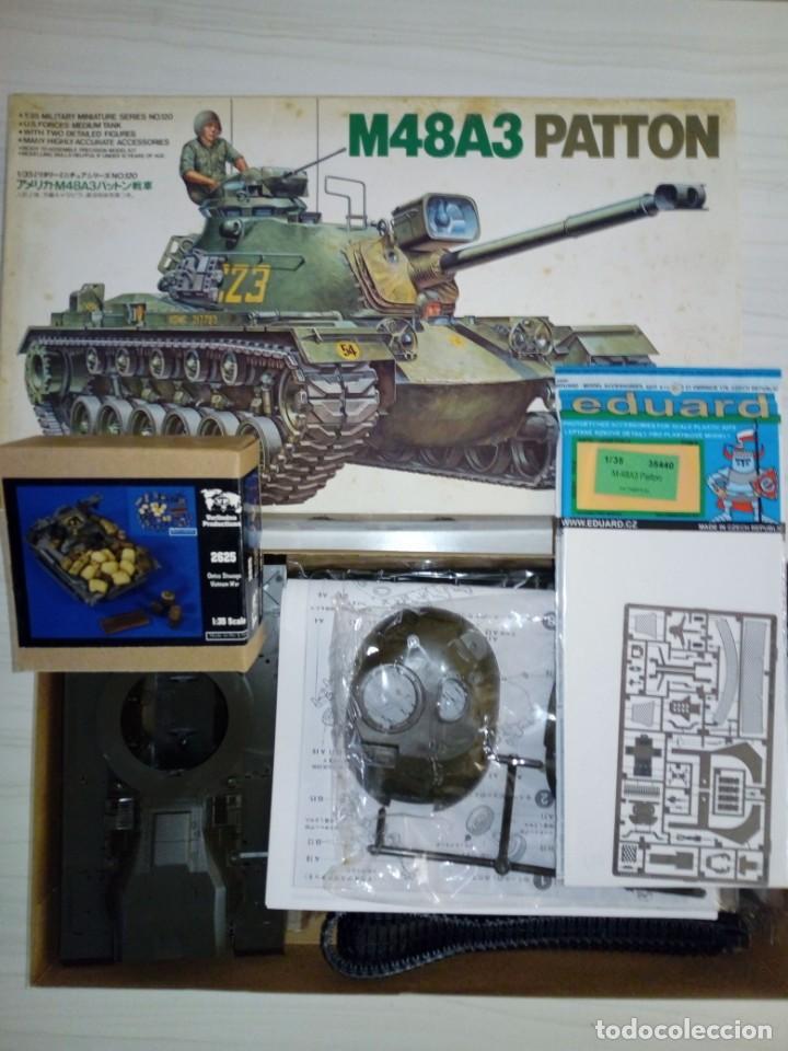 LOTE M48A3 PATTON DE TAMIYA NUEVO + FOTOGRABADO + UTENSILIOS VERLINDEN VIETNAM (Juguetes - Modelismo y Radiocontrol - Maquetas - Militar)
