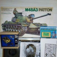 Maquetas: LOTE M48A3 PATTON DE TAMIYA NUEVO + FOTOGRABADO + UTENSILIOS VERLINDEN VIETNAM. Lote 194243682