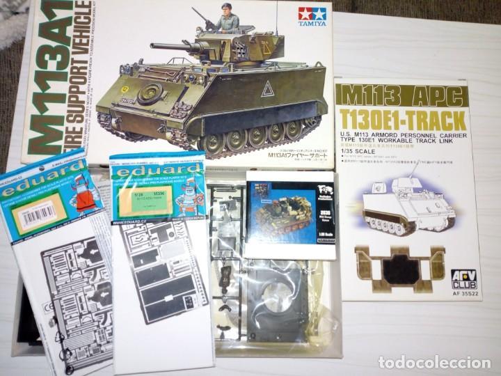 SUPERLOTE M113 DE TAMIYA CON FOTOGRABADOS, CADENAS Y UTENSILIOS DE VERLINDEN VIETNAM (Juguetes - Modelismo y Radiocontrol - Maquetas - Militar)