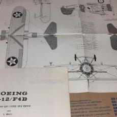 Maquetas: PLANOS BOEING P 12. Lote 194301131