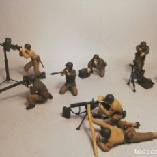Maquetas: TAMIYA ESCALA 1:35. US GUN AND MORTAR TEAM. MAQUETAS MONTADAS Y PINTADAS. Lote 194388850