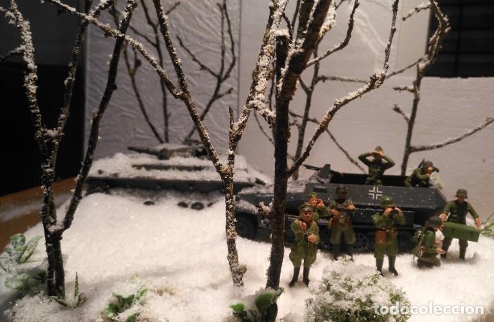 Maquetas: Diorama tropas alemanas en invierno 1/35 montado y pintado con detalles - Foto 2 - 194495902