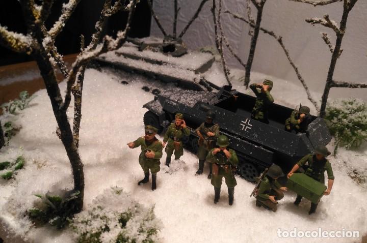 Maquetas: Diorama tropas alemanas en invierno 1/35 montado y pintado con detalles - Foto 3 - 194495902