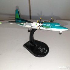 Maquetas: MODEL POWER THE AIRLINER COLLECTION AER LINGUS: FOKKER 50 (F27-050) AVIÓN METAL ESCALA 1:200. Lote 194558940