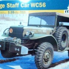 Maquetas: DODGE STAFF CAR WC56 ITALERI 1/35. Lote 194574468