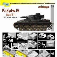 Maquetas: PZ.KPFW.IV AUSF.F-1 VORPANZER DRAGON 1/35. Lote 194641215