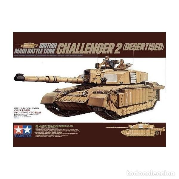 BRITISH MAIN BATTLE TANK CHALLENGER 2 (DESERTISED) TAMIYA 1/35 (Juguetes - Modelismo y Radiocontrol - Maquetas - Militar)