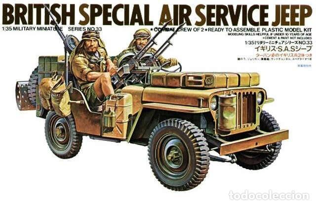 BRITISH SAS SPECIAL AIR SERVICE JEEP TAMIYA 1/35 (Juguetes - Modelismo y Radiocontrol - Maquetas - Militar)