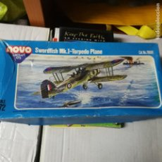 Maquetas: EBAY SWORDFISH MK.I - TORPEDO PLANE AIRCRAFT PLASTIC MODEL KIT 1/72 NOVO F258. Lote 194644640