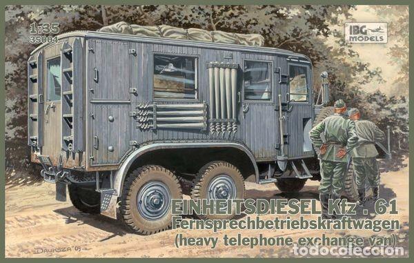 EINHEITSDIESEL KFZ. 61 FERNSPRECHBETRIEBSKRAFTWAGEN (HEAVY TELEPHONE EXCHANGE VAN) IBG 1/35 (Juguetes - Modelismo y Radiocontrol - Maquetas - Militar)