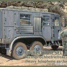Maquetas: EINHEITSDIESEL KFZ. 61 FERNSPRECHBETRIEBSKRAFTWAGEN (HEAVY TELEPHONE EXCHANGE VAN) IBG 1/35. Lote 194645358