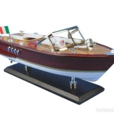 Maquetas: WOODEN RIVA AQUARAMA MODEL SPEED BOAD 14''. Lote 194730453