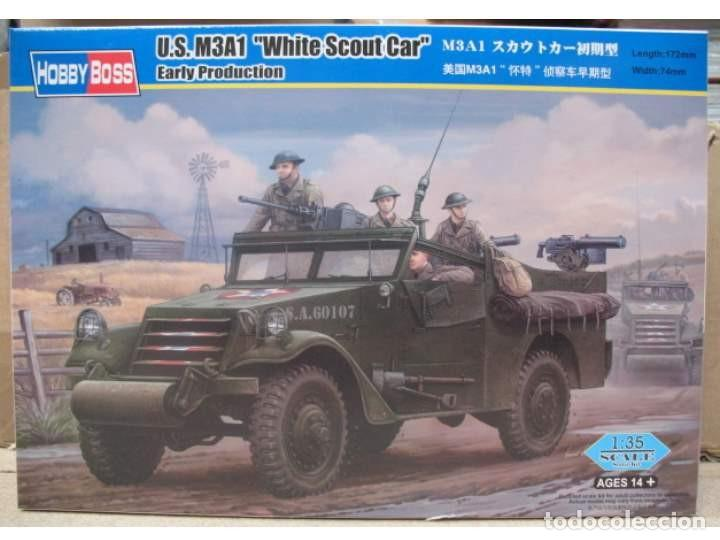 "US M3A1 ""WHITE SCOUT CAR"" EARLY PRODUCTION HOBBY BOSS 1/35 (Juguetes - Modelismo y Radiocontrol - Maquetas - Militar)"