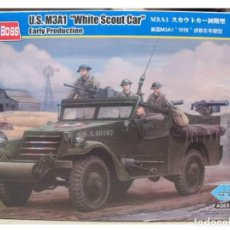 """Maquetas: US M3A1 """"WHITE SCOUT CAR"""" EARLY PRODUCTION HOBBY BOSS 1/35. Lote 194899121"""