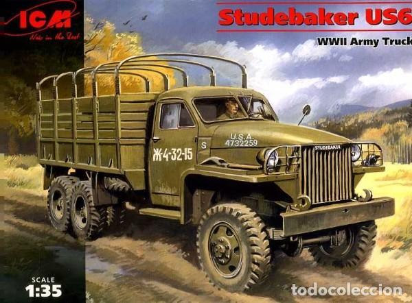 STUDEBAKER US 6 WWII ARMY TRUCK ICM 1/35 (Juguetes - Modelismo y Radiocontrol - Maquetas - Militar)