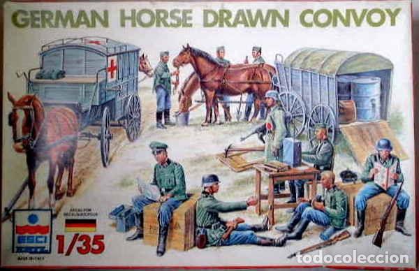 GERMAN HORSE DRAWN CONVOY ITALERI 1/35 (Juguetes - Modelismo y Radiocontrol - Maquetas - Militar)
