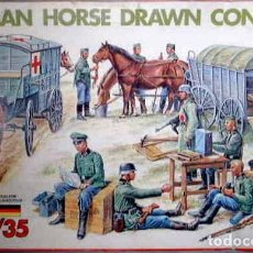 Maquetas: GERMAN HORSE DRAWN CONVOY ITALERI 1/35. Lote 194903982