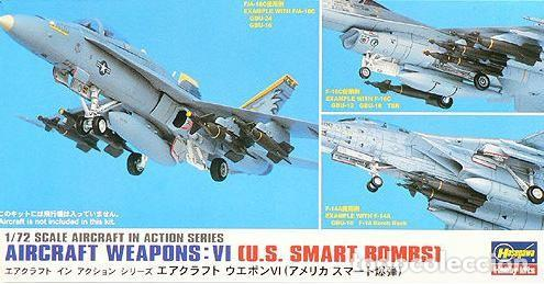 AIRCRAFT WEAPONS VI U.S. BOMBS HASEGAWA 1/72 (Juguetes - Modelismo y Radiocontrol - Maquetas - Militar)