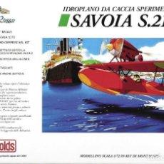 Maquetas: SAVOIA S.21 FINE MOLDS 1/72 PORCO ROSSO . Lote 194904820