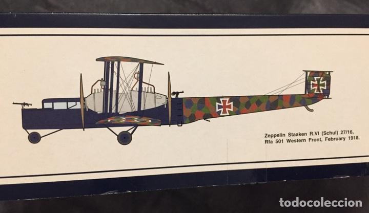 Maquetas: Zeppelin STAAKEN R.VI GERMAN WWI BOMBER 1:72 ROODEN RO 055 maqueta avión - Foto 2 - 194905441