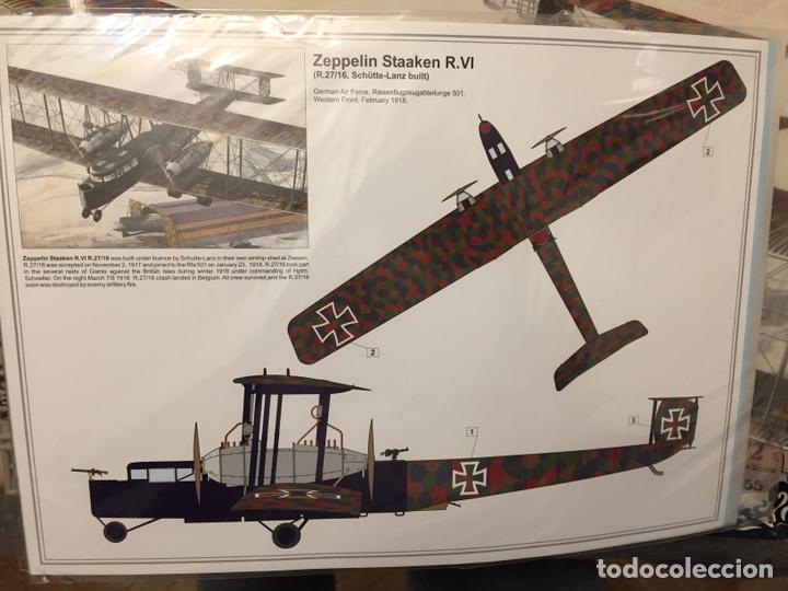 Maquetas: Zeppelin STAAKEN R.VI GERMAN WWI BOMBER 1:72 ROODEN RO 055 maqueta avión - Foto 3 - 194905441