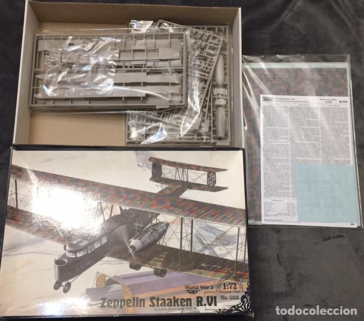 Maquetas: Zeppelin STAAKEN R.VI GERMAN WWI BOMBER 1:72 ROODEN RO 055 maqueta avión - Foto 4 - 194905441
