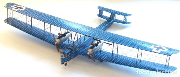 Maquetas: Zeppelin STAAKEN R.VI GERMAN WWI BOMBER 1:72 ROODEN RO 055 maqueta avión - Foto 5 - 194905441