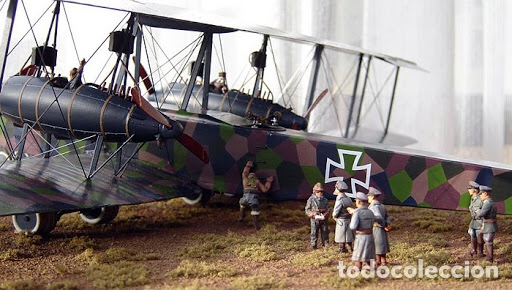 Maquetas: Zeppelin STAAKEN R.VI GERMAN WWI BOMBER 1:72 ROODEN RO 055 maqueta avión - Foto 7 - 194905441