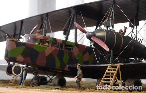 Maquetas: Zeppelin STAAKEN R.VI GERMAN WWI BOMBER 1:72 ROODEN RO 055 maqueta avión - Foto 8 - 194905441