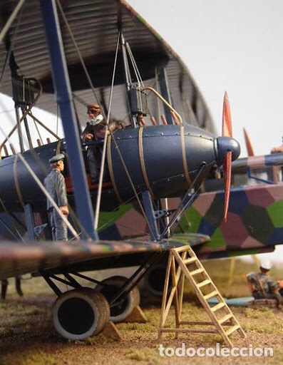 Maquetas: Zeppelin STAAKEN R.VI GERMAN WWI BOMBER 1:72 ROODEN RO 055 maqueta avión - Foto 11 - 194905441