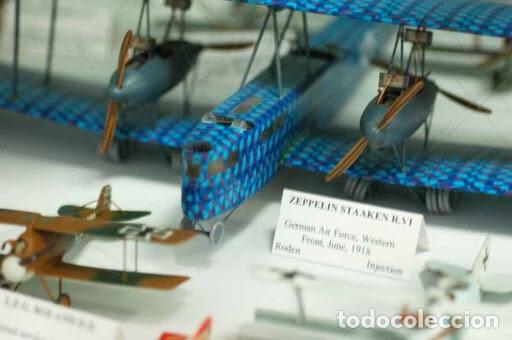 Maquetas: Zeppelin STAAKEN R.VI GERMAN WWI BOMBER 1:72 ROODEN RO 055 maqueta avión - Foto 12 - 194905441